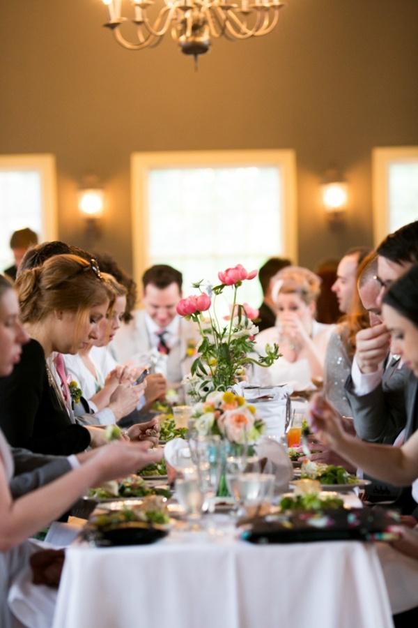 Lovely dinner wedding reception