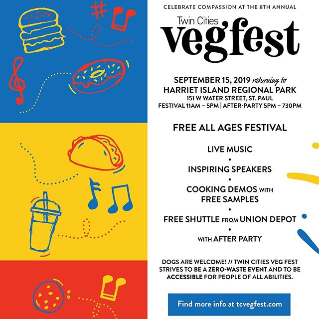See you tomorrow at @tcvegfest 💛