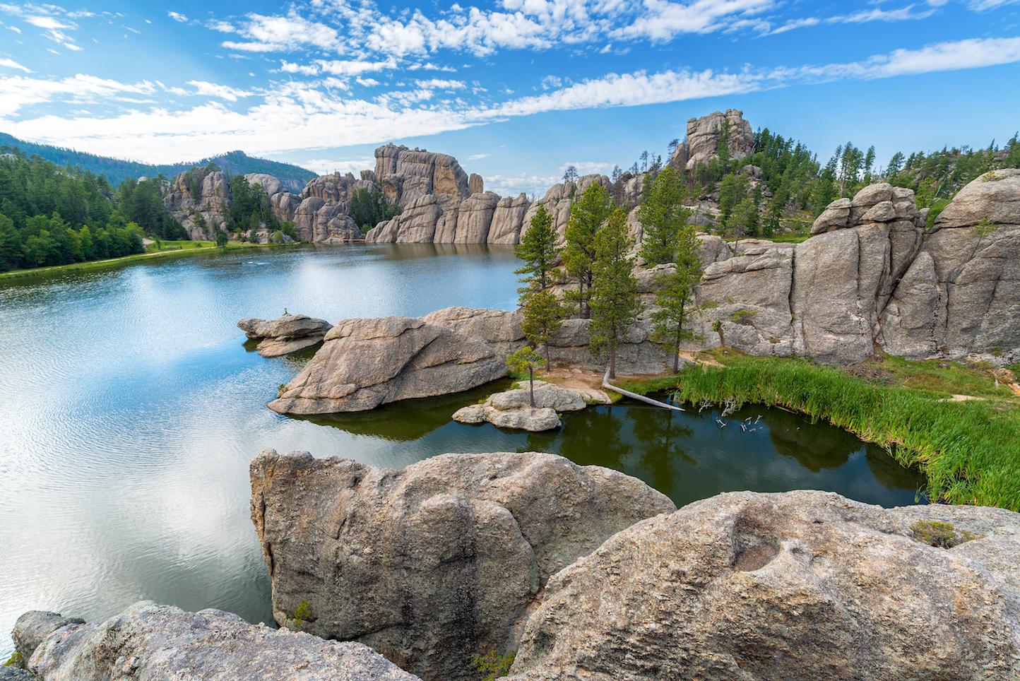 Sylvan Lake, view from rocks