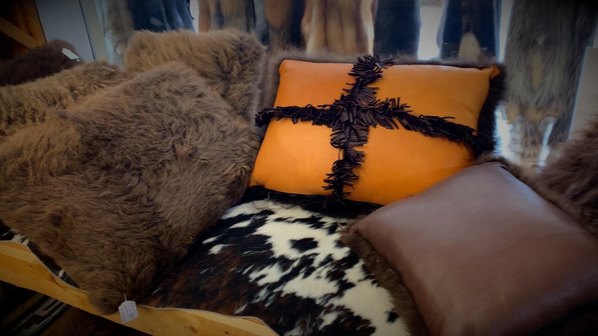 Handmade Buffalo Fur Pillows