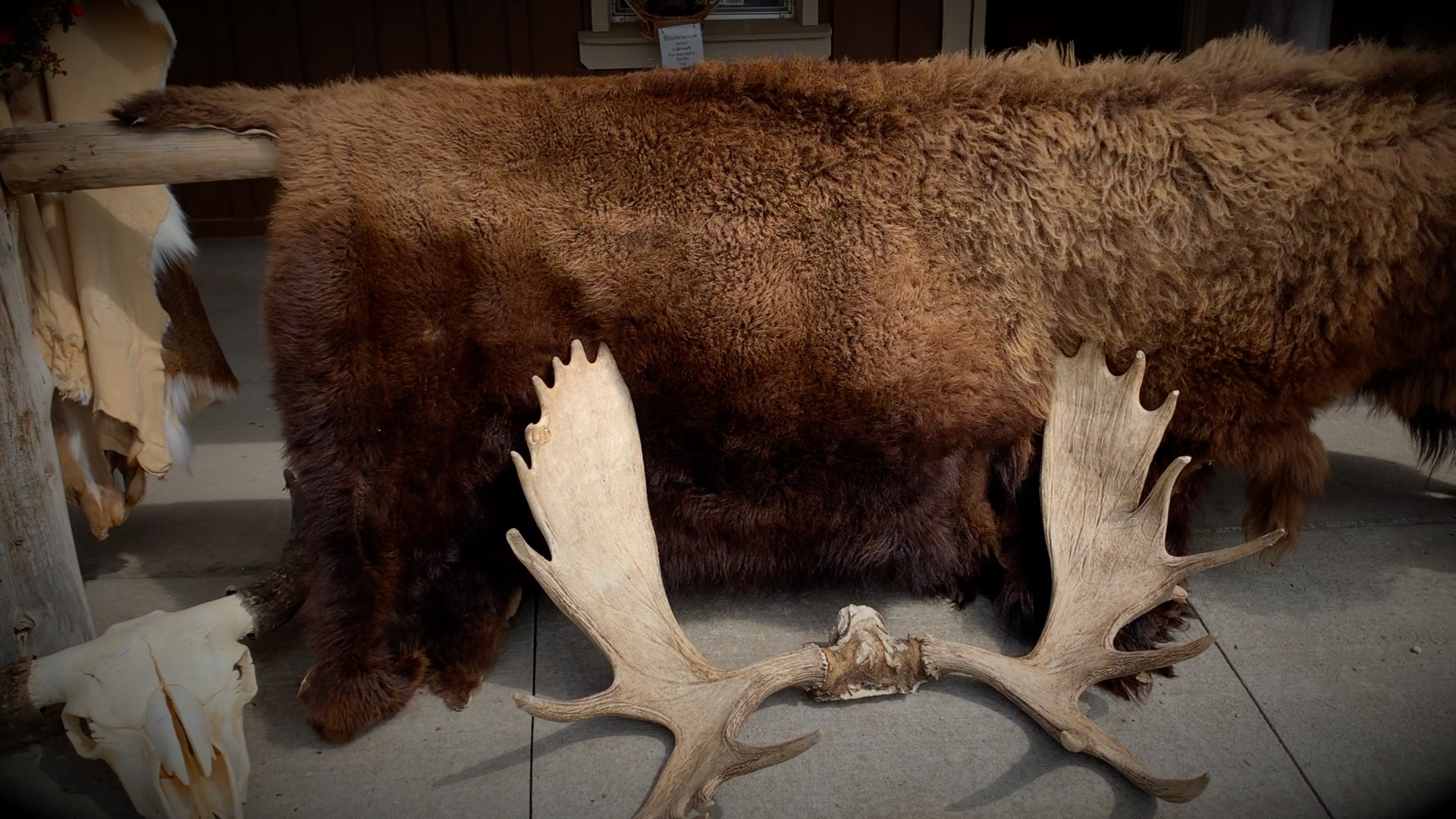 Racks, Buffalo Furs and Skulls
