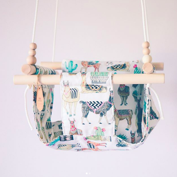 Sweet Swinging - How adorable is this handmade baby swing?! Hang it indoors for the perfect rainy day entertainment, a must have.@sweet.swinging
