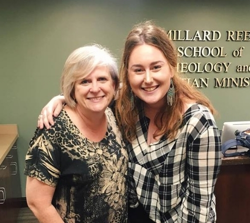 Dr. Kathy Mowry with Six8 2019 Intern Madison Brown