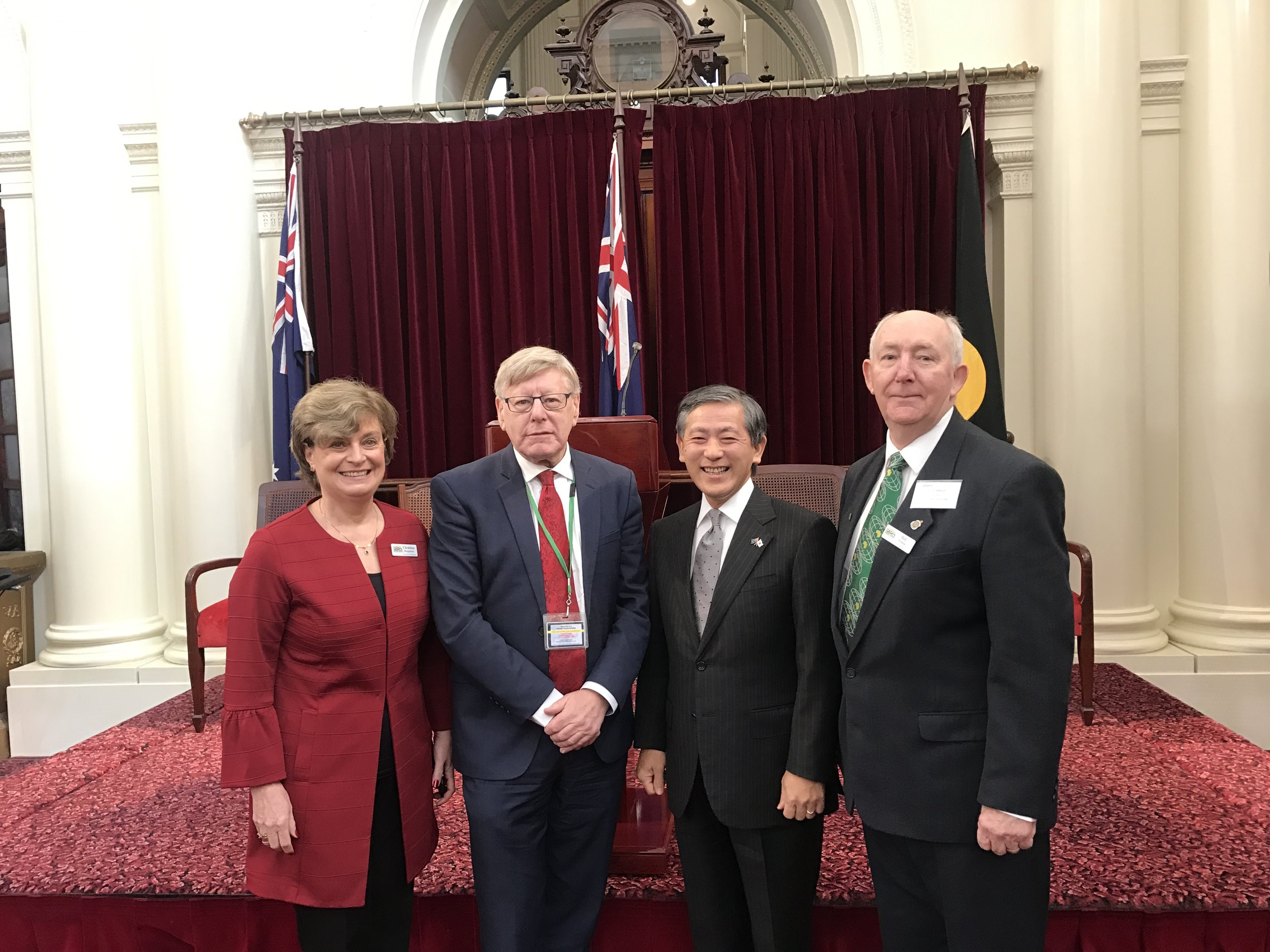 Christina Despoteris (Sister Cities Australia), Mr Kazuyoshi Matsunaga (Japanese Consul General), Mr Bill Wilson (President, Sister Cities Australia)