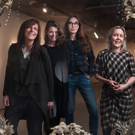 "Commercial gallery for women artists opens in Melbourne 🧡. Pictured Founder Lisa Fehily with artists Kate Rohde, Coady and Lisa Roet. Photo: Simon Schluter via @theageaustralia . . We are so excited to hear about Finkelstein gallery ! Excerpt from @theageaustralia ""The Finkelstein Gallery in Melbourne is believed to be only the second commercial gallery to dedicate its program solely to the talent and careers of emerging female artists. The first being Australian Girls Own Gallery in 1989."" . . Welcome to Melbourne Finkelstein Gallery 🧡🧡🧡! .  We at The Artists Guild are encouraged to see more female, women and non binary -led art initiatives address gender inequality in the arts but we hope that this continues into an interrogation into representing diverse female artists.  In posting this photo we acknowledge that the current representation of this art space is very white-centered and we hope to see more done to address this.  We believe that creating a safe, inclusive , diverse and supportive arts industry is important and we look forward to following your future successes. . . . Warmest, The Artists Guild  Edited : to include gender neutral terms"