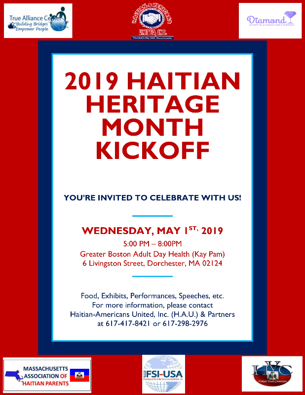 Join us on May 1st at Kay Pam to kick off the Haitian Heritage Month… -