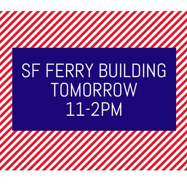 come check us out at CUESA MARKET tomorrow 11-2pm at the SF Ferry Building. #sf #oakland #bayarea #pizza #catering #eat #foodie #bayareafoodie #ferrybuilding #CUESA #MARKET