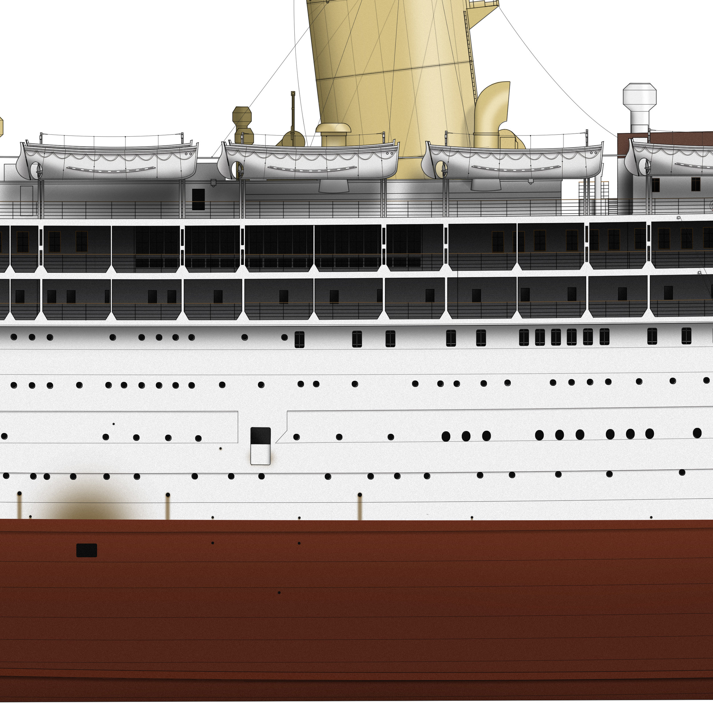 Details of TSS Strathmore drawing by Liner Designs.