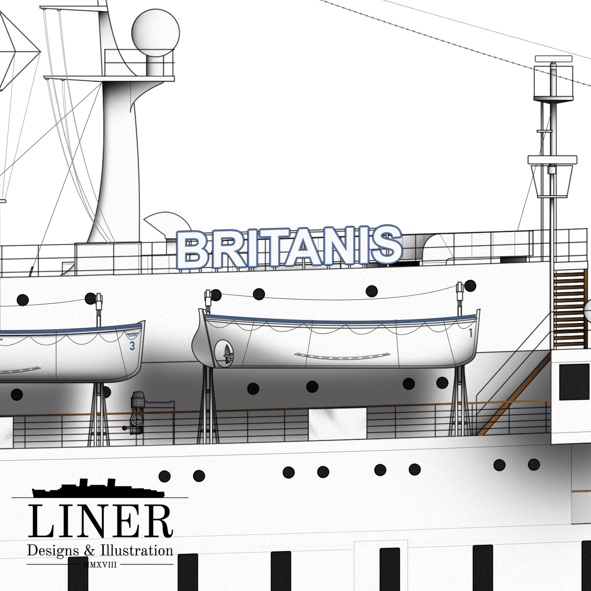 Britanis boasted a radar suite compliant with modern regulations - despite having been launched back in 1931!