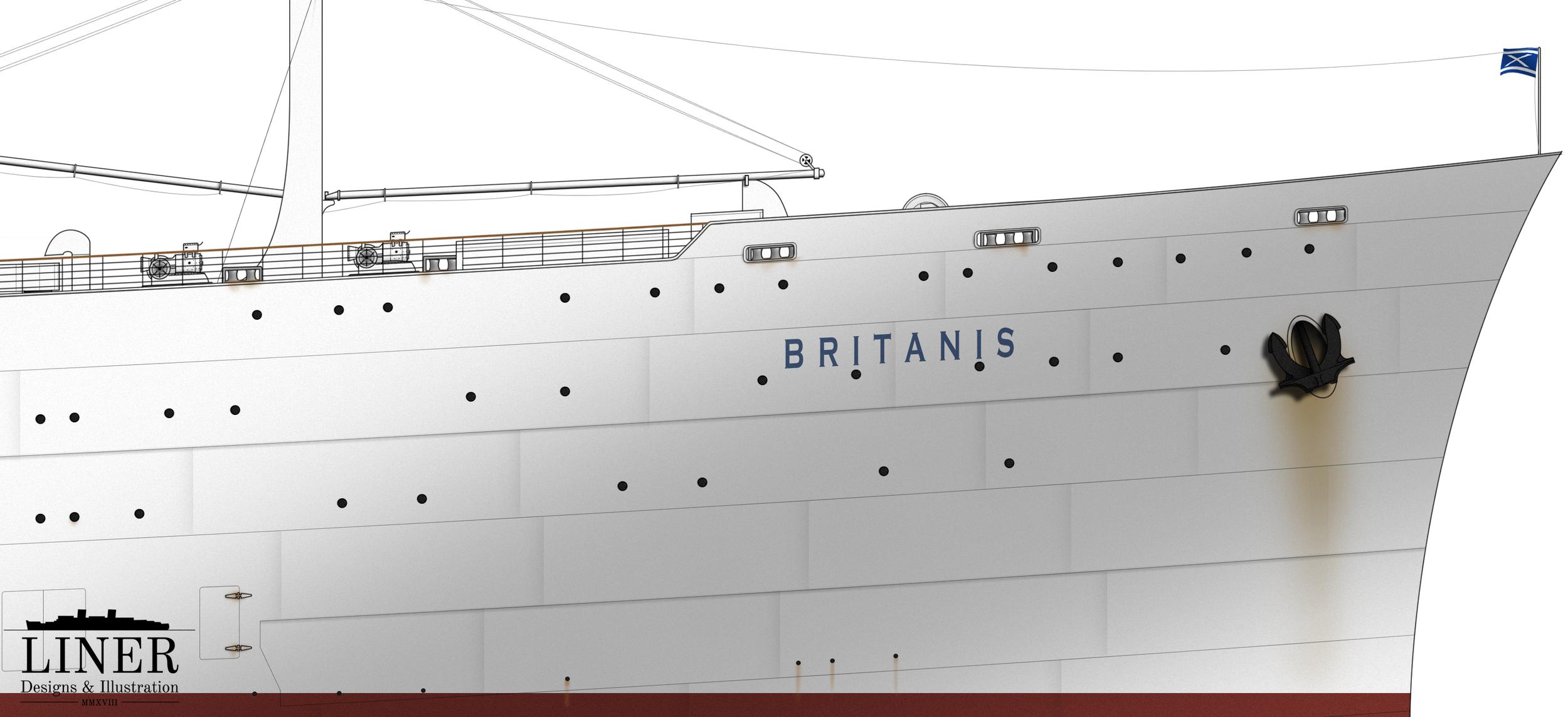 Britanis' imposing and distinctive bow.