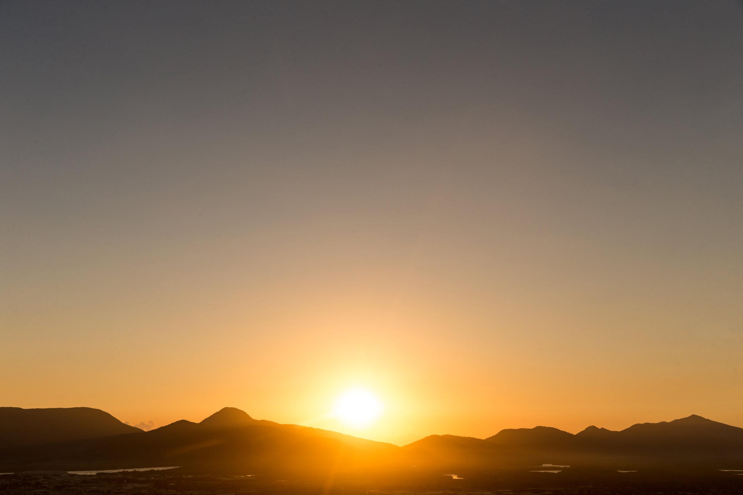 Sunrise over Gadgarra National Park. Cairns, AU.