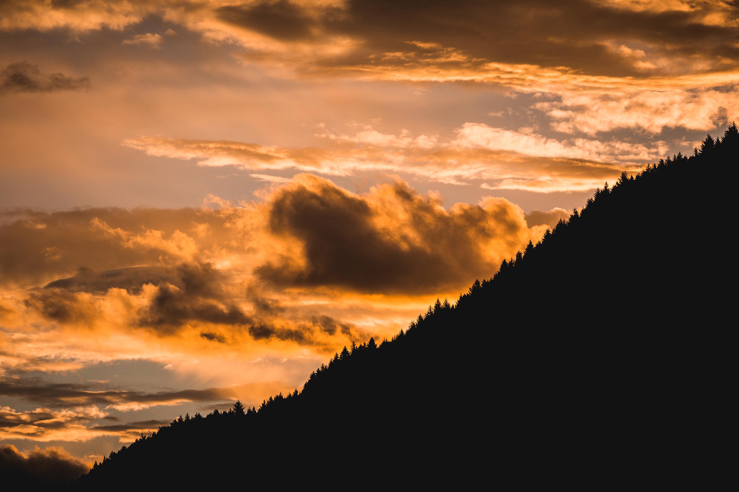 Skies on Fire. Queenstown, NZ