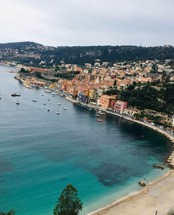 Stunning Views of Villefranche sur Mer Cote d'Azur on our French Riviera Food & Wine Tour