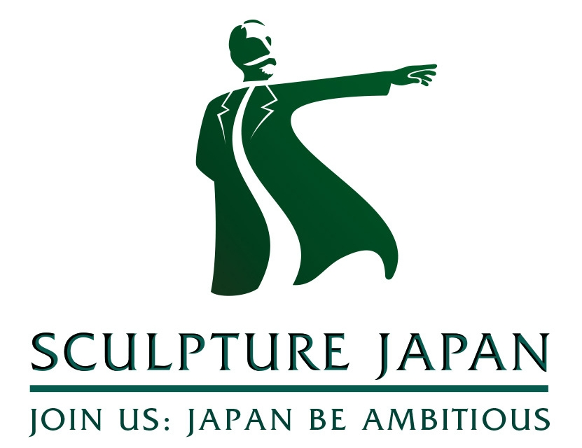 About our Logo : Based off the famous  statue  of  William S. Clark in Sapporo, Hokkaido, Sculpture Japan follows the spirit Clark-san's famous soundbite 'Boys Be Ambitious' and exists to help Japan's professionals reach higher and achieve success. Designed by Yuki Hayashi at  California Design Labs