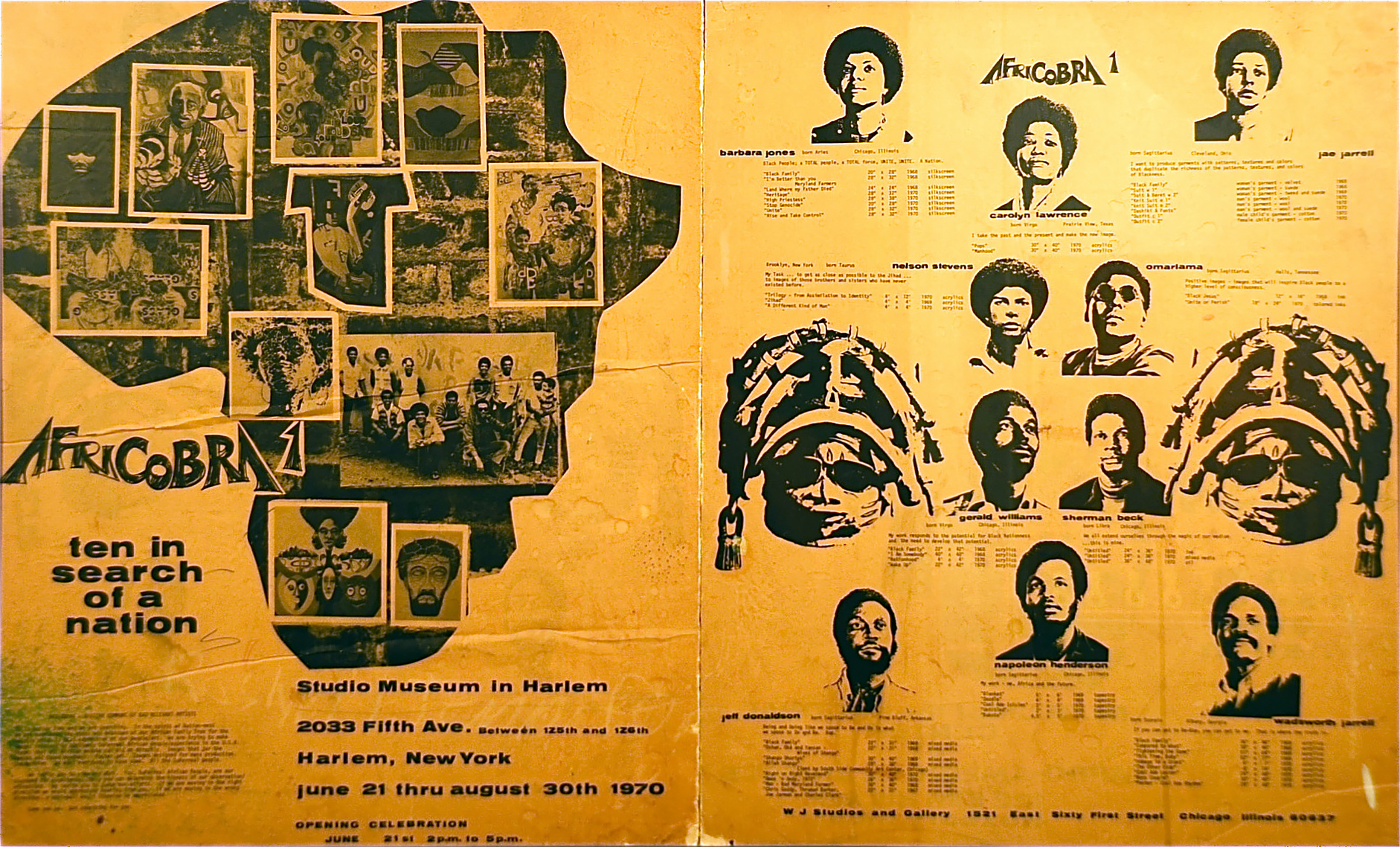 Here is the original poster for the  ten in search of a nation  exhibition.
