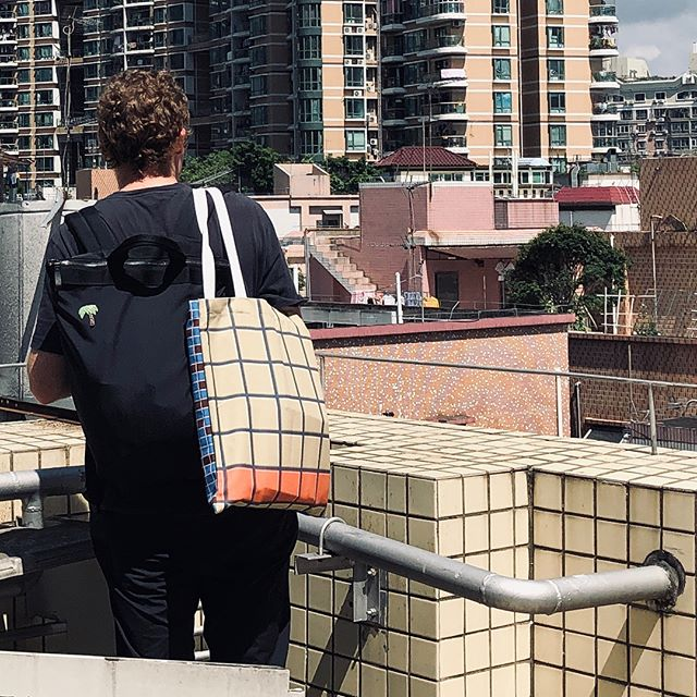 Look out the city from urban village rooftop with a matched bag by not a coincidence! 😉#urbanvillage #shuiwei #rooftop #placemaking
