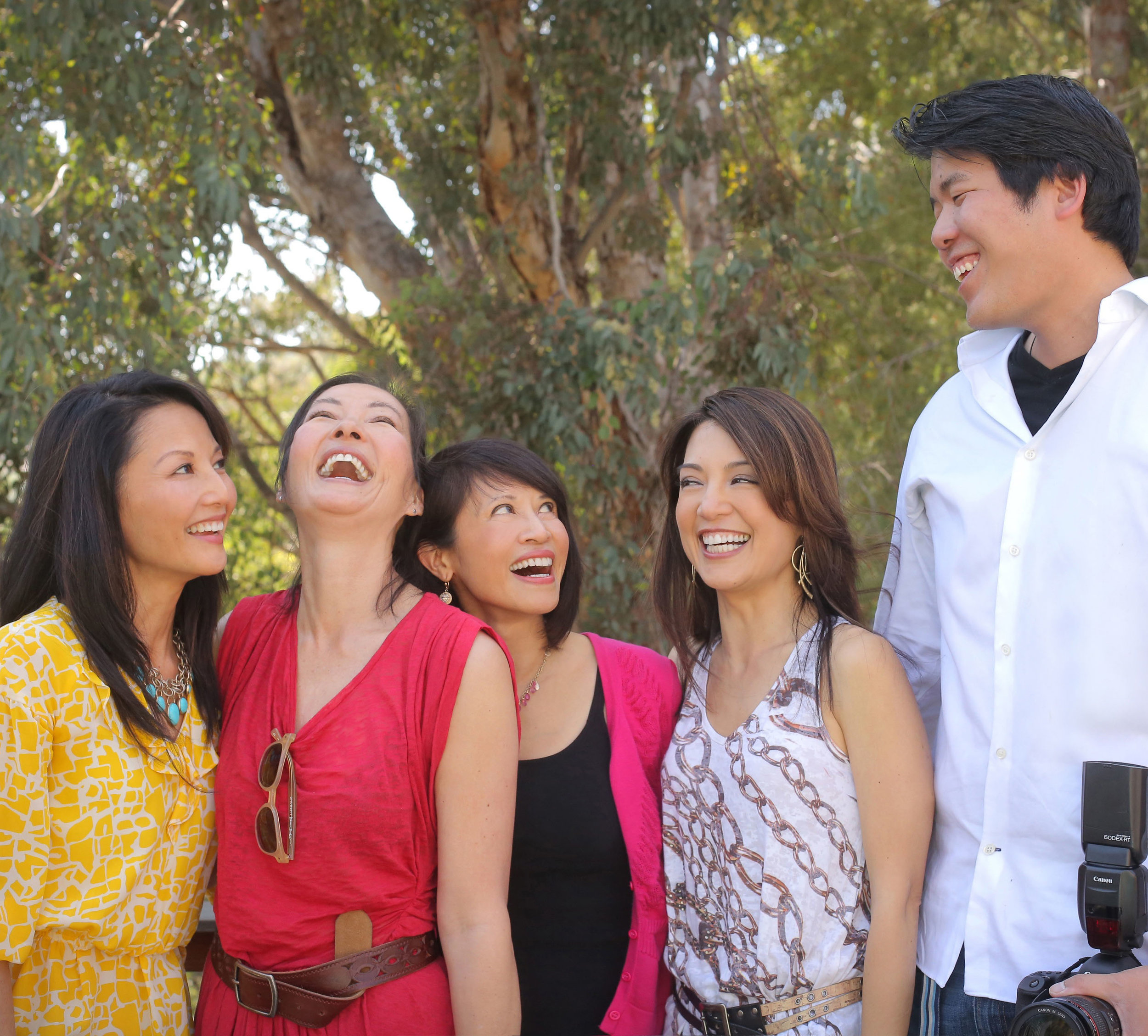 with the cast of The Joy Luck Club while photographing their 20-year reunion.