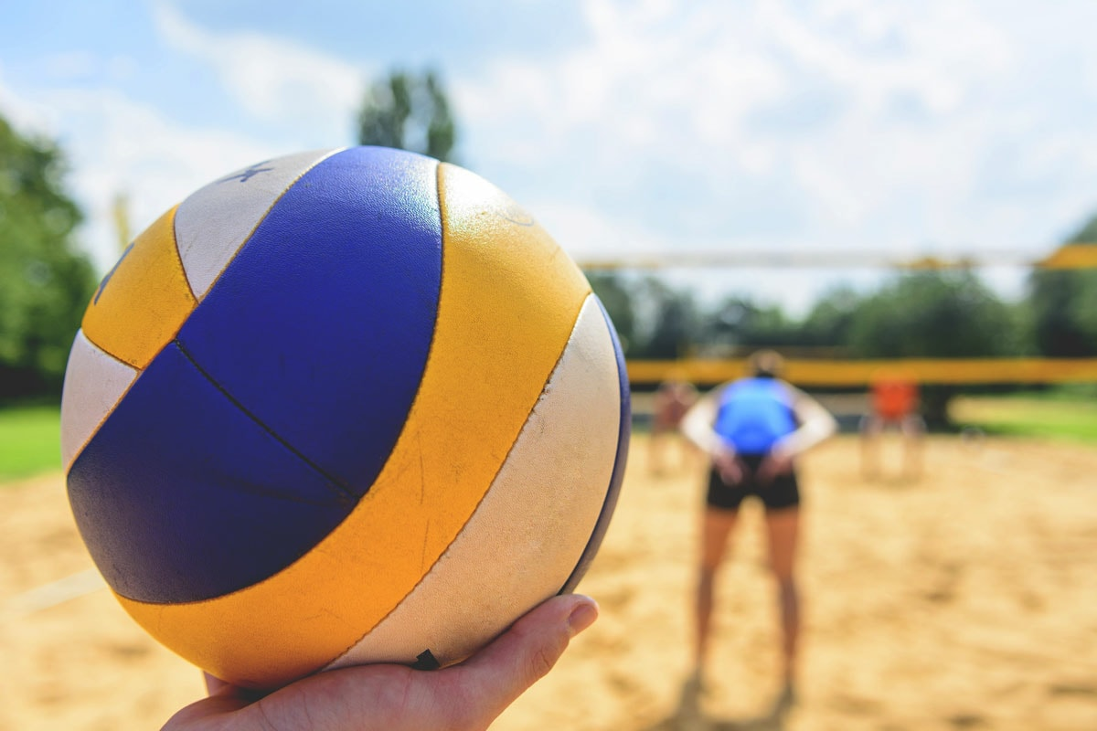 Sand Volleyball - With summer comes SAND VOLLEYBALL!! We house two sand volleyball courts with a scenic view of LaPorte's Clear Lake right in our backyard!Open play volleyball is available to the public from 11am to close of business every day during summer and early fall!Kids, families and pets are welcome (we have a fenced in outdoor space).Volleyball courts can be reserved for private outdoor parties. Please inquire for details.THURSDAY nights mid-May thru mid-August are reserved for our annual summer volleyball league games. You are welcome to come watch and cheer on our league players!The 2019 league season starts May 16th and ends August 15th.  Our championship game will be held Saturday August 17th! Leauge enrollments begin April 2019, keep updated on our League Facebook Page!---> JJ's Side Out Volleyball League (Facebook)---> .2019 Summer League Schedule (TBA)