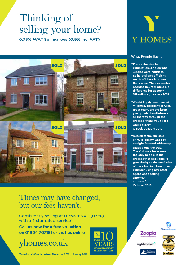 Flyer for newly rebranded Y Homes