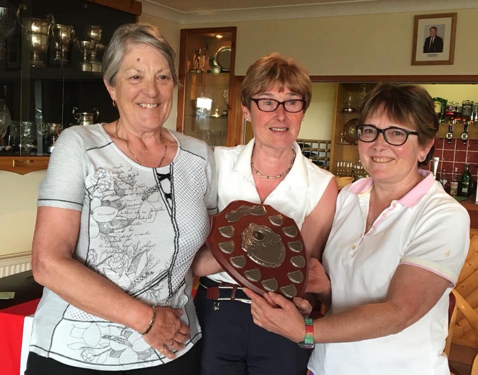 Team Trophy - Best 3 Nett Scores - Borth and Ynyslas. Barbara Reece, Barbara Flanagan. Anna Hubbard not shown.