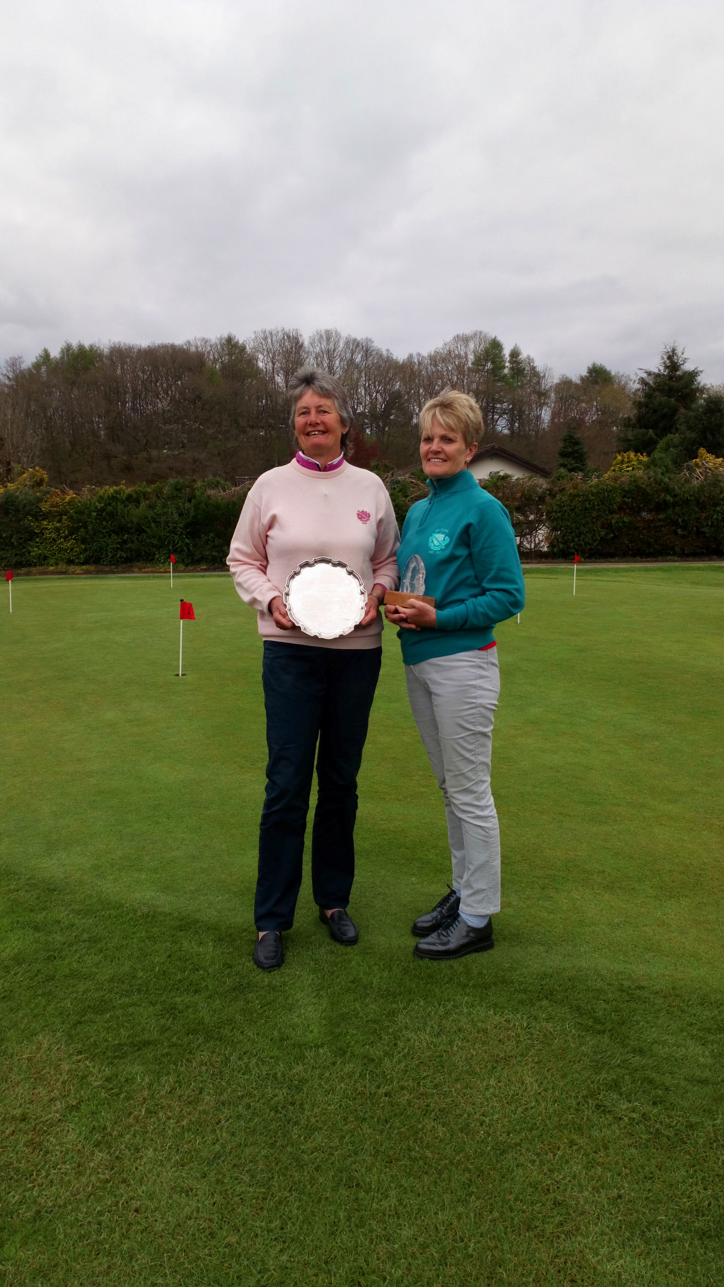 2018 Pat Morgan Championship Plate Winner - Sally Wilkinson, Aberdovey and Runner Up - Mary Upson, Aberdovey