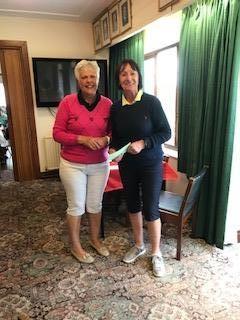 Margaret Bowen, MWCGA Vice-Captain and Gail Beaurain, St. Idloes (R)
