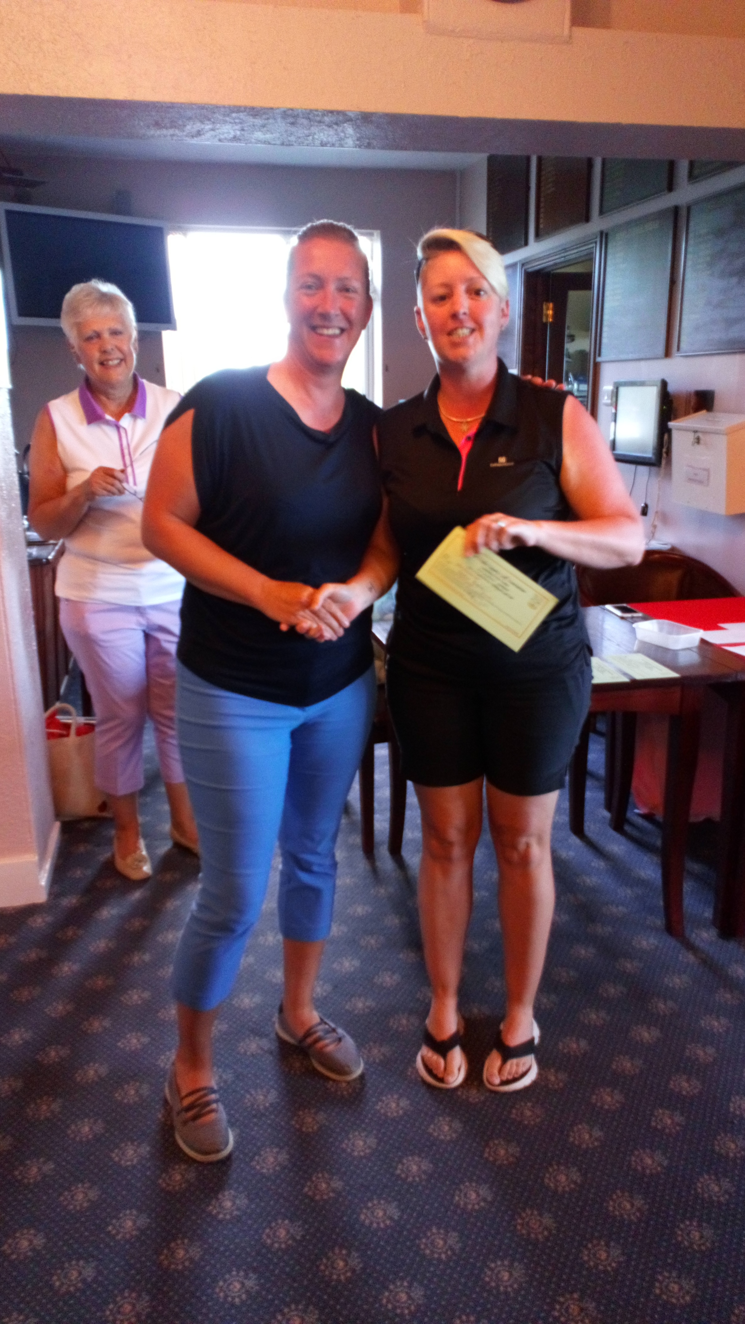 Heather Hughes of Builth Wells (R), second in the Silver Division, with Ellen Jones of Welshpool,