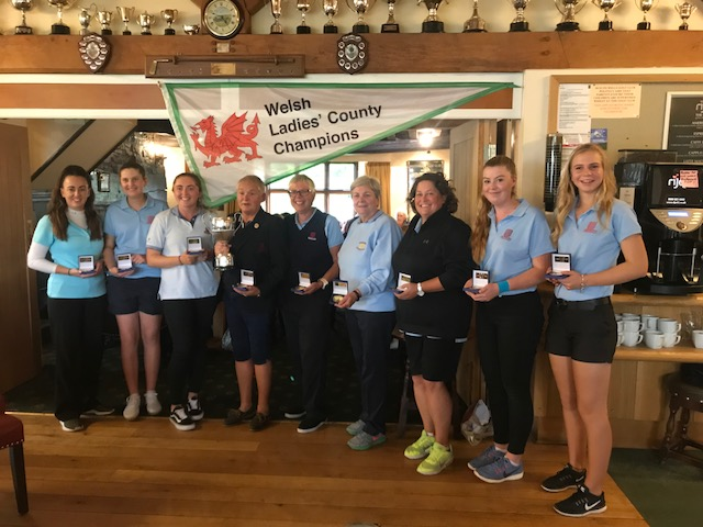 Monmouthshire, who beat Caernarfonshire & Anglesey to be crowned Welsh Ladies County Champions.