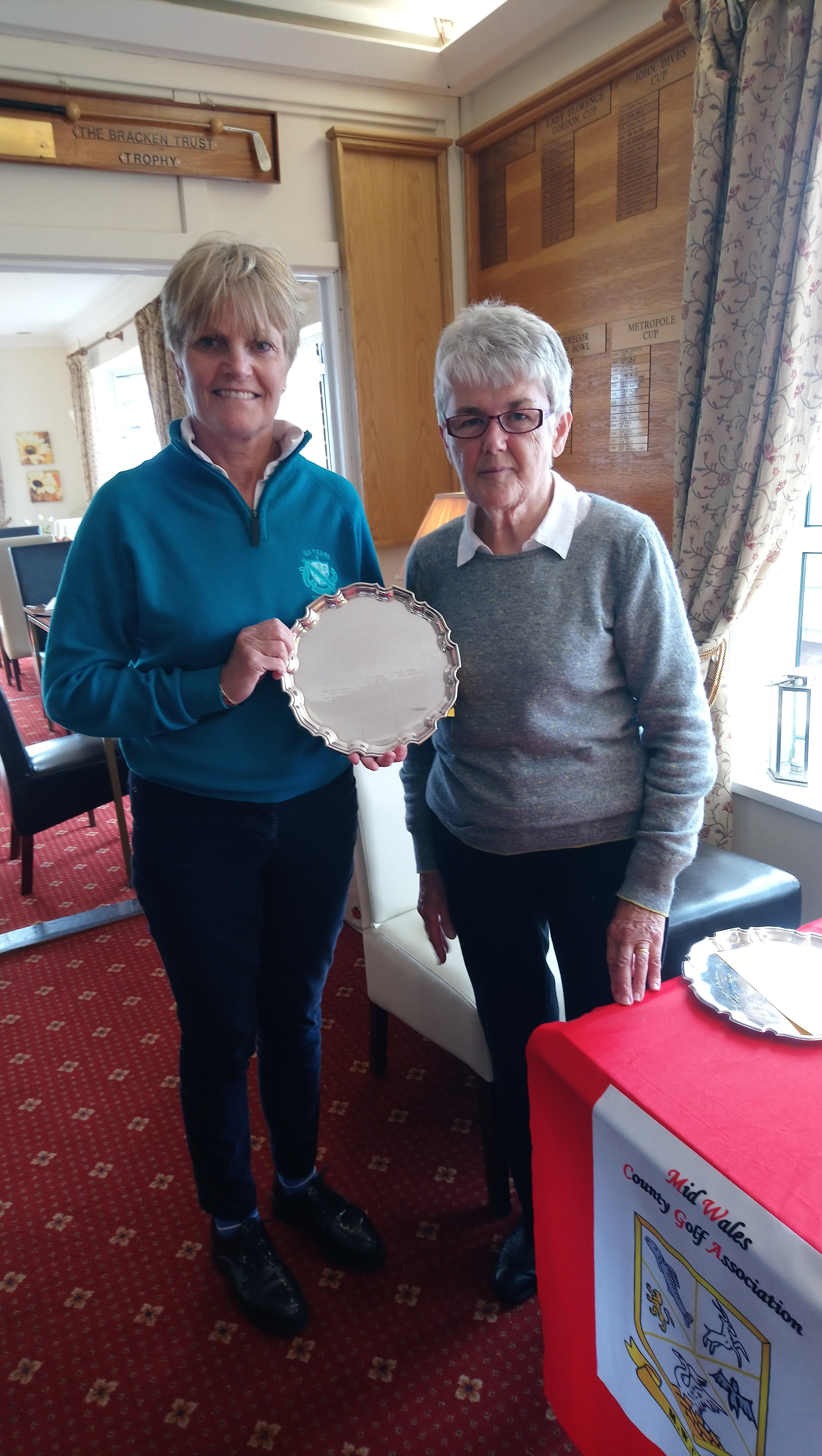 Plate winner, Mary Upson