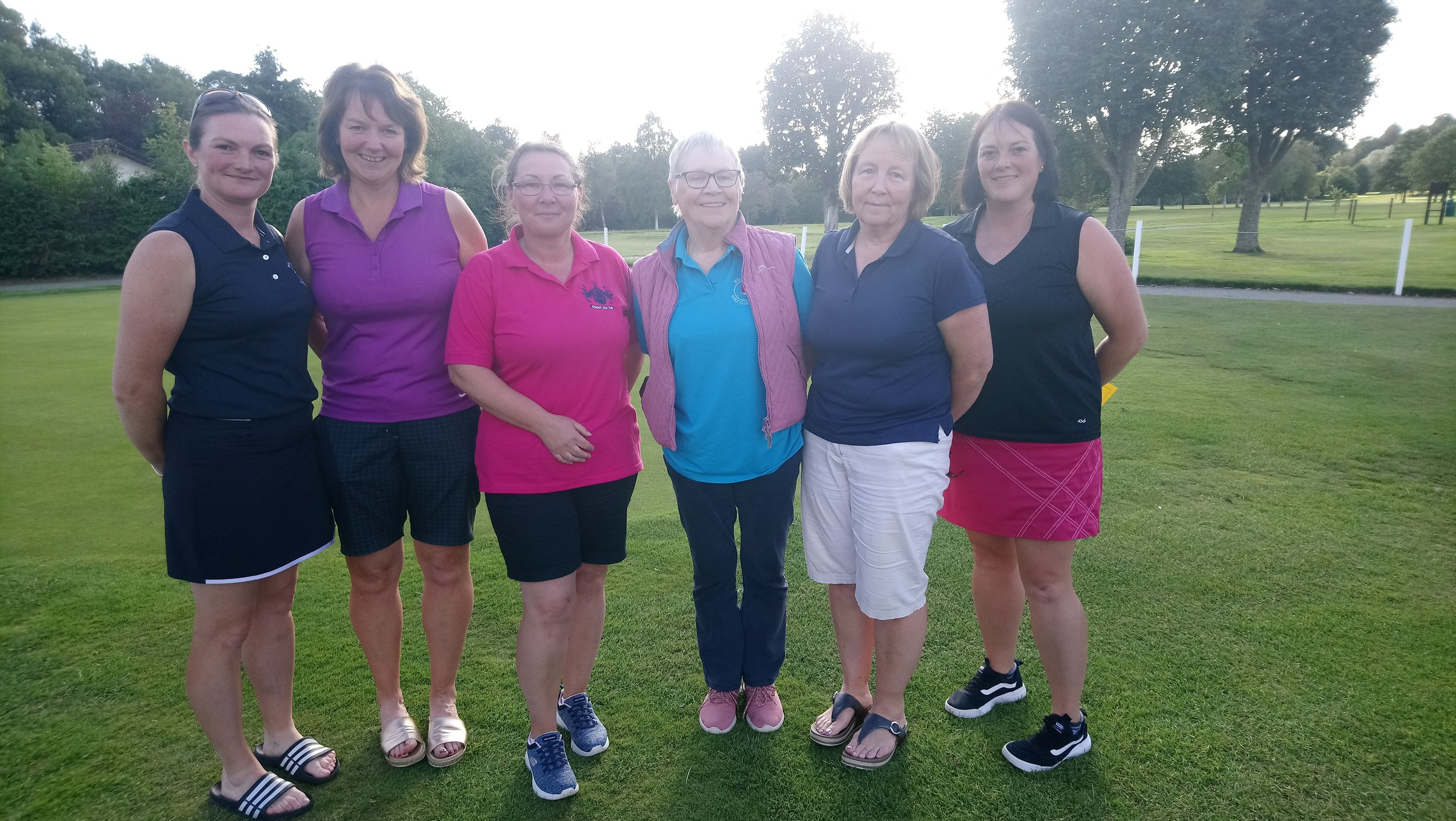 The winners that were there come photo taking! Sherrie Edwards, Hayley Price (1st 0-20), Steph Jenkins, Anne Downes Evans (1st 21-36), Pam Lewis (2nd 21-36), Lisa Hughes (2nd 0-20).