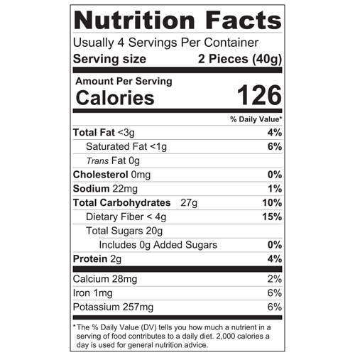 Date Truffles Sesame & Cardamom_150g_Nutrition Facts.png