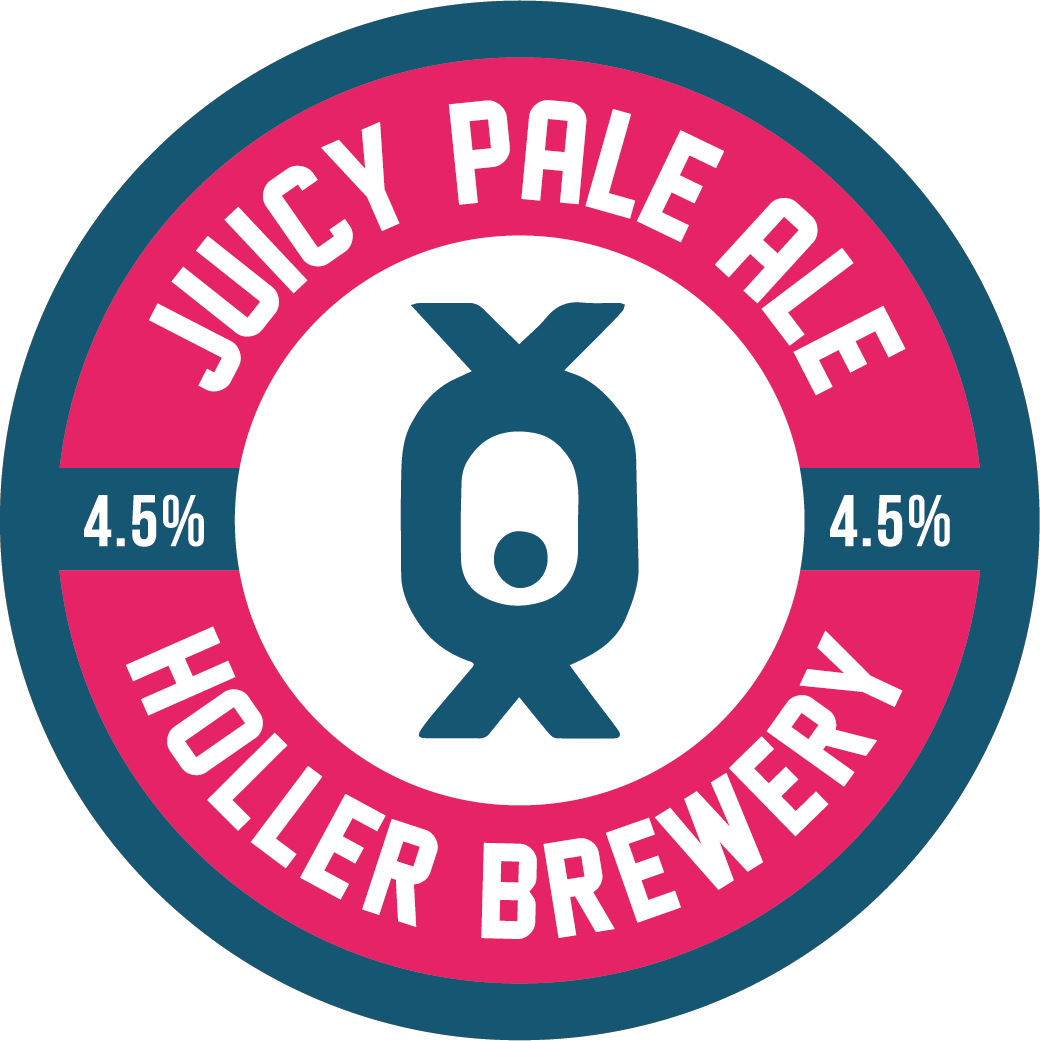 - JUICY PALE ALE 4.5%Naturally hazy with bucket loads of fruit puree. The fruit changes with every brew so ask the team which variety is currently on. Expect tropical fruit and bold new world hops in a very low bitterness pale.. . .Malts: Super Pale Malt, Rolled Oats, Torrefied WheatHops (boil): Magnum, Citra, Mosaic, SimcoeHops (dry): Citra, Mosaic, Simcoe. . .keg, 330ml can