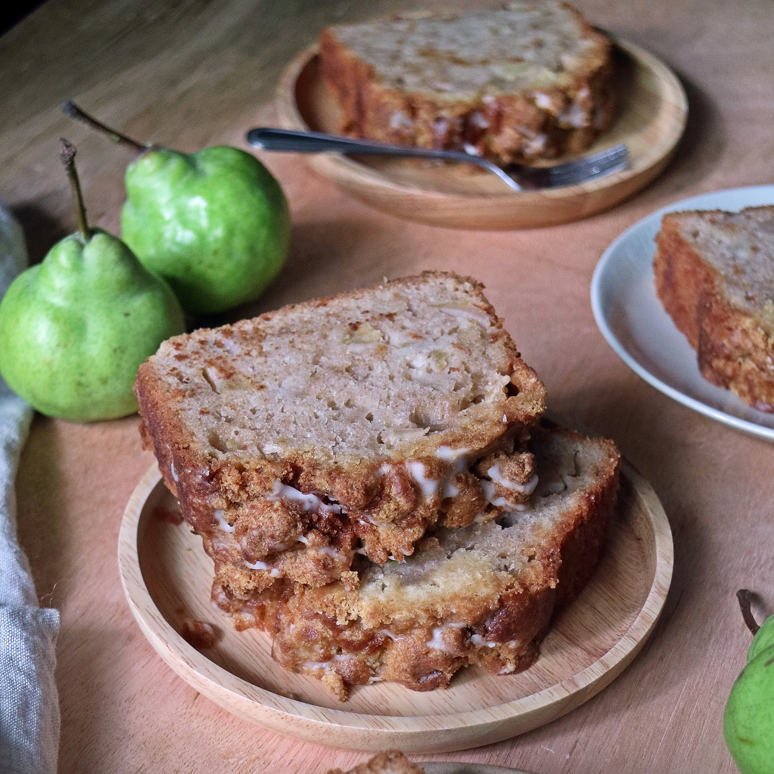 Pear Crumble Slices