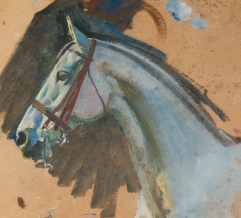Extract from Studies of a Grey Mare's head