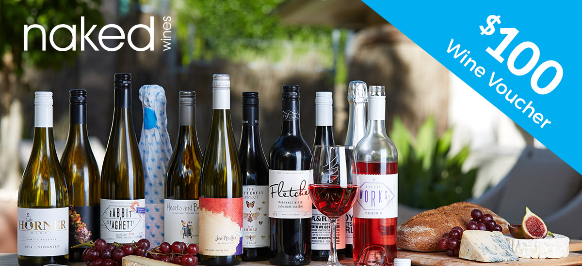 Sign up with us for free and get this great offer from our friends at Naked Wines. We will email you your voucher when we receive your registration, it's quick and really easy, see below. Terms & Conditions apply.
