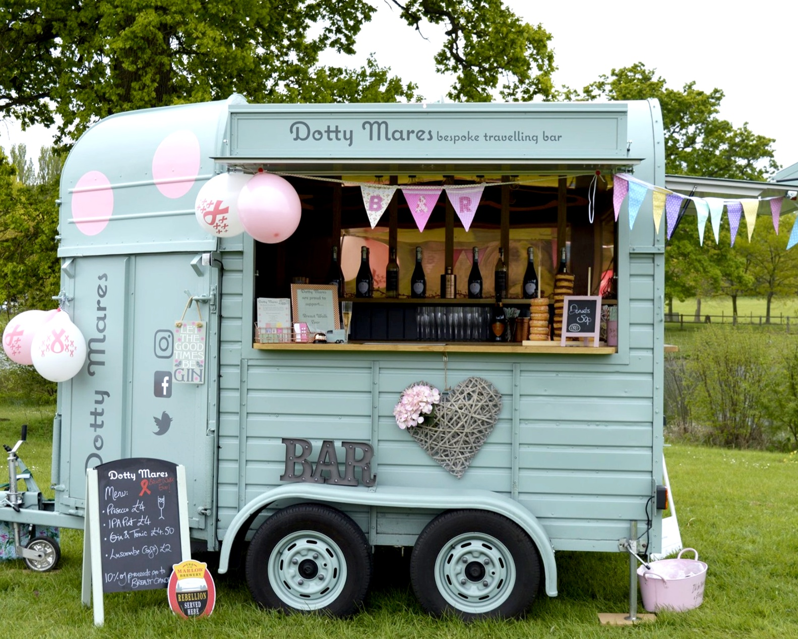 """""""A superb service from some truly lovely people"""" - Dotty Mares provided refreshment for our walkers at our inaugural Breast Walk Ever Berkshire Event for Against Breast Cancer - a research charity for secondary spread cancer. The horse box was a wonderful addition to the finishing village and the participants were absolutely delighted with the contents of course! They even put on ale for the men who were supporting their mums, wives, girlfriends and families. A superb service from some truly lovely people. Will definitely use again.Breast Walk Ever05/05/19"""