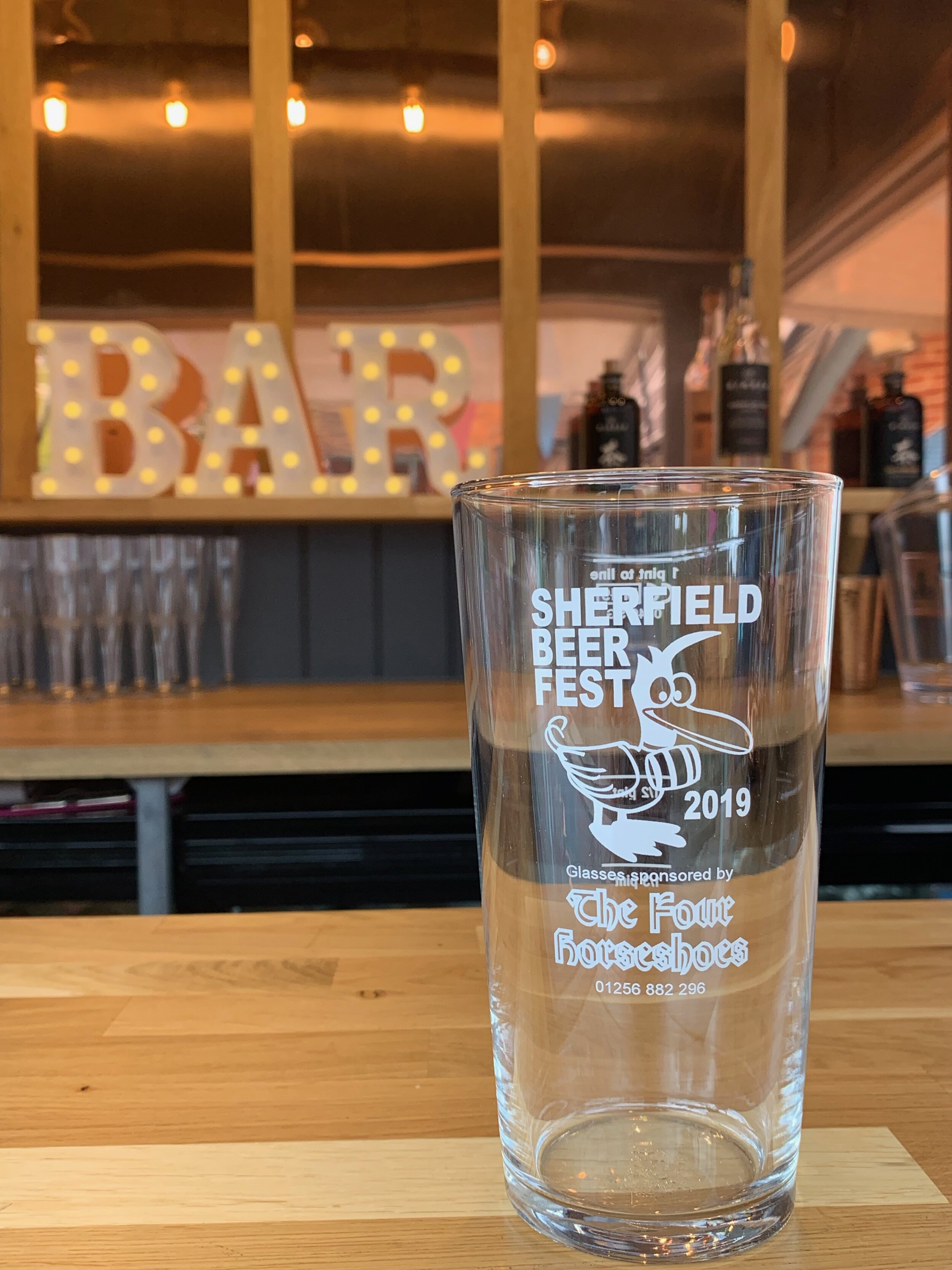 The wonderful horsebox appeared and was quickly set-up and ready to service drinks in a very short time. - Add to Event review from Sherfield-on-Loddon Beer Festival Sherfield-on-Loddon Village Hall