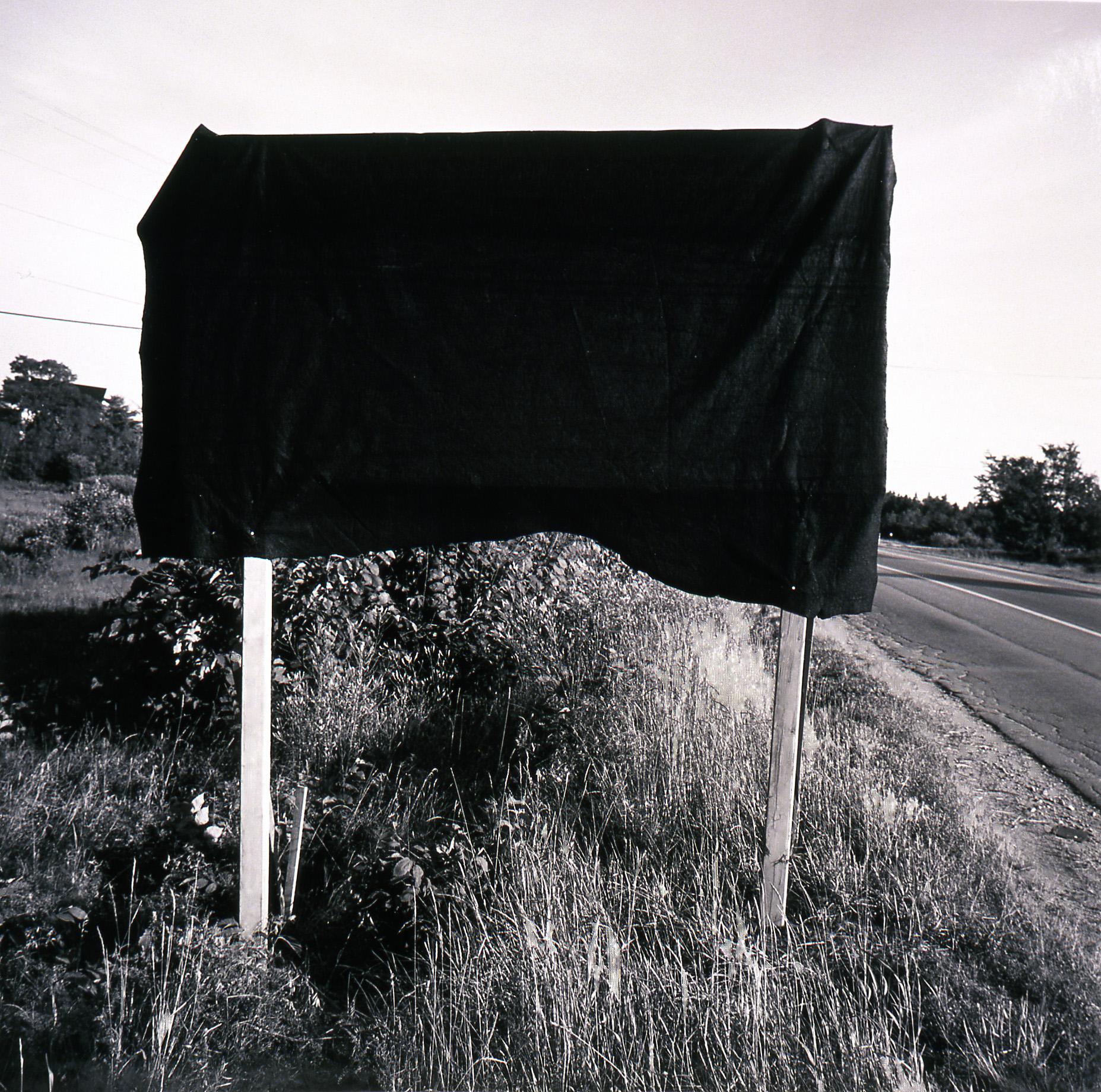 "Black Draped,  2004, 44"" x 44"""