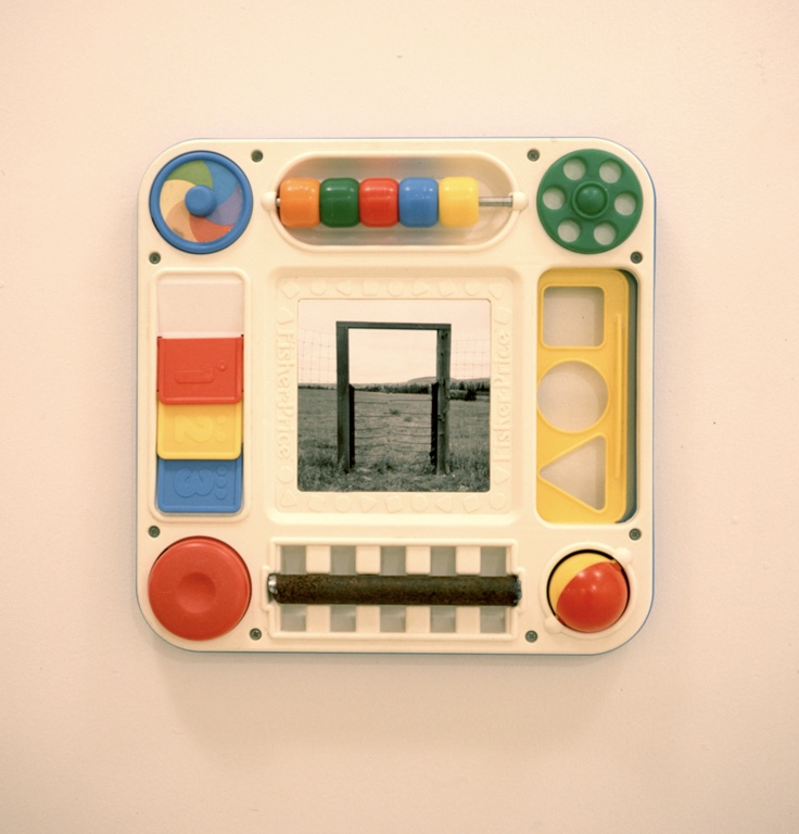 Hard Heavan       Fisher Price toy, steel, photograph