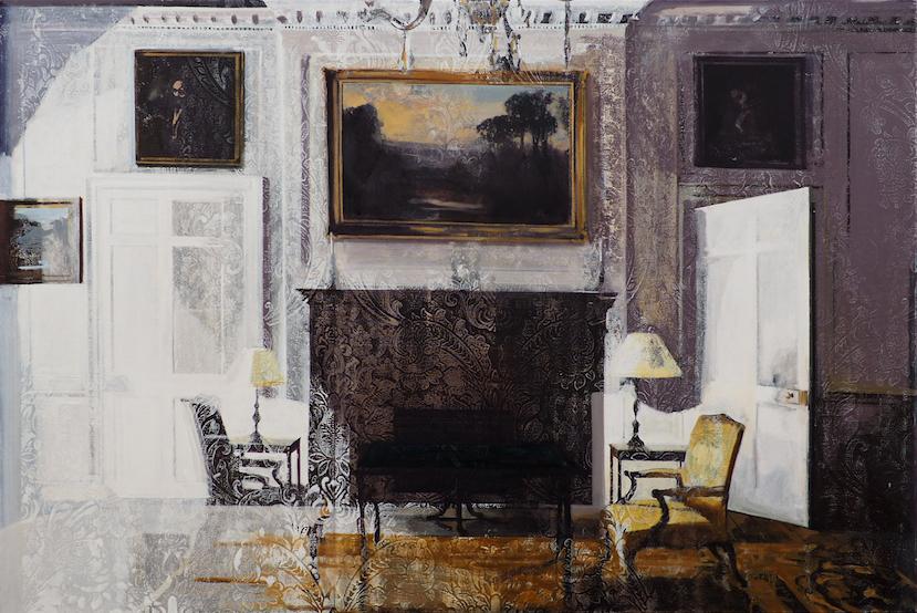 Eleanor Watson,  Conversation , oil on canvas, 150x100cm