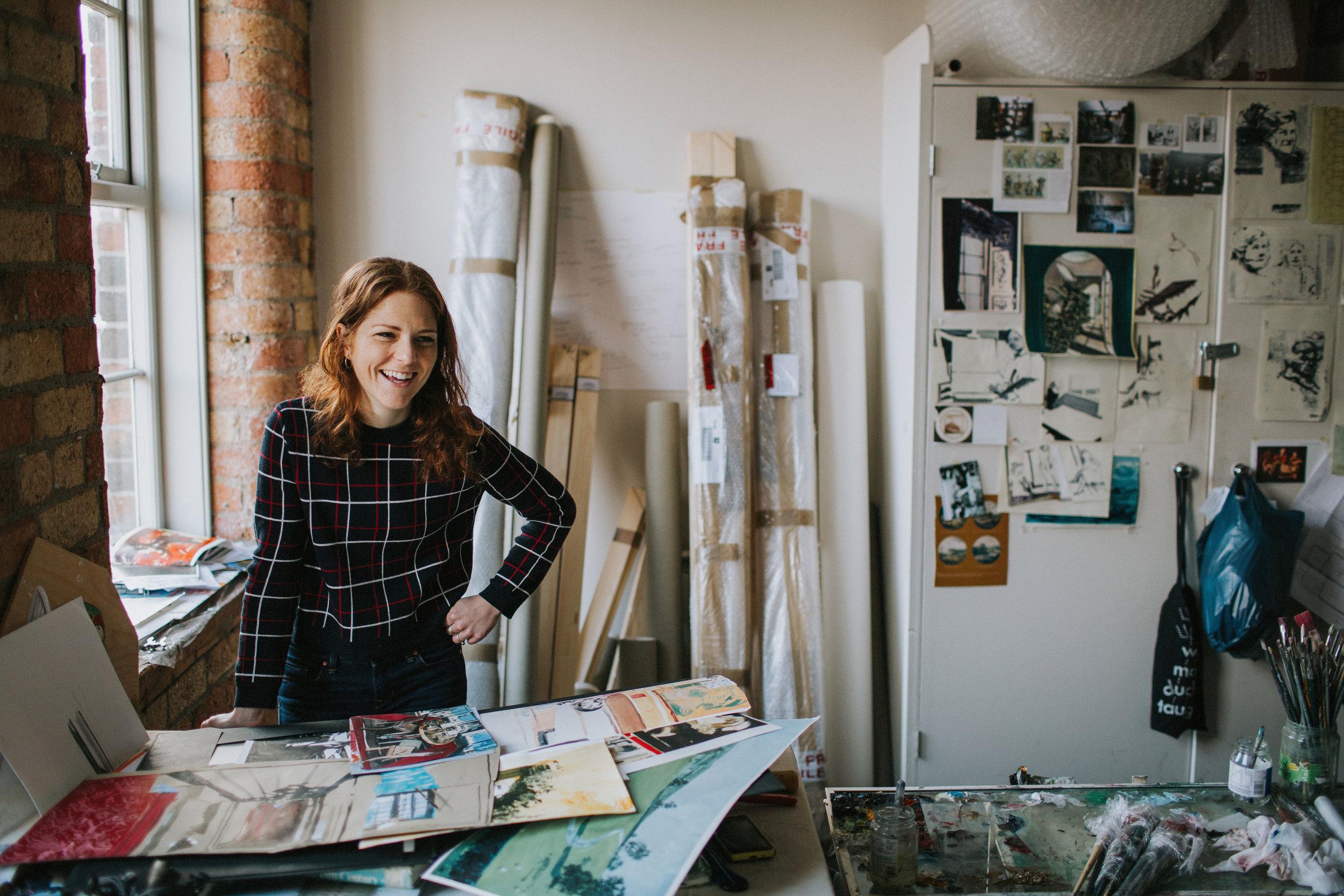 Eleanor Watson in her studio. (c)  Bonbon Photography