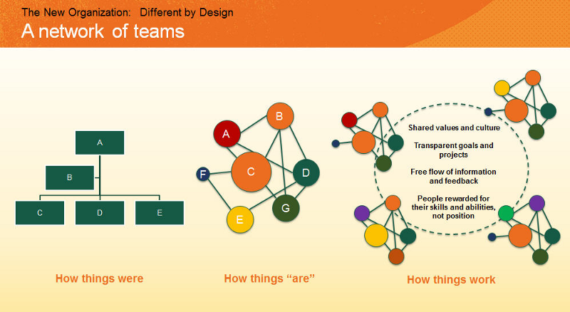 Figure: The New Organization: A Network of Teams (Deloitte, 2016)