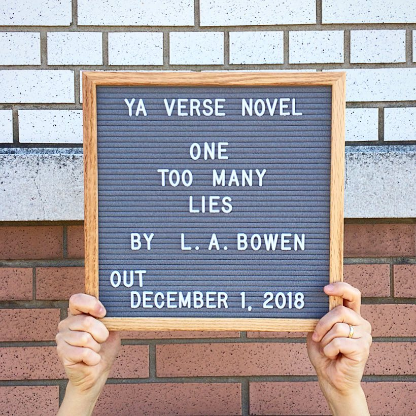 Spring 2018 -  One Too Many Lies  publication date announced  My YA Verse Novel,  One Too Many Lies , will be released December 1st, 2018. This is part of a series of hi-lo books for struggling teen readers. More info on this series at    West44Books.com   .