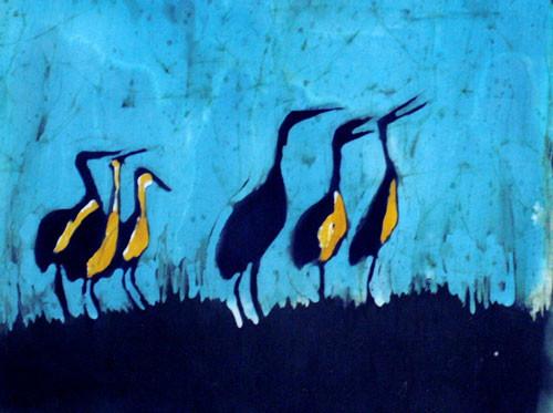 """Six Cranes a Crowin"""