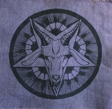 """Baphomet Pentagram"" goat patch"