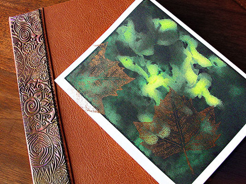 Journal and Leaf Print