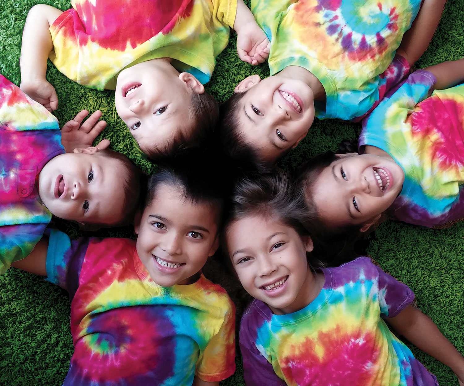 Kids with shirts<br>dyed with Procion MX