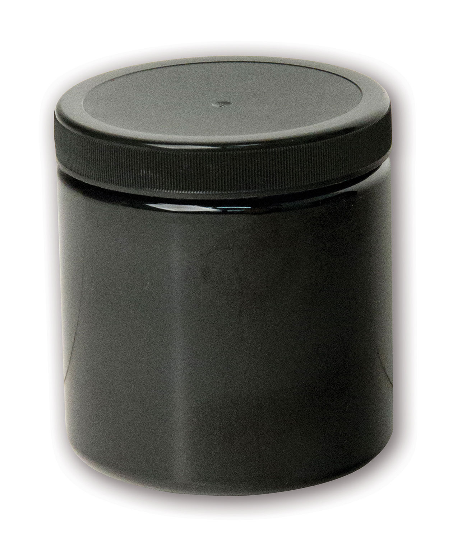 8 oz Opaque Black Jar#(plastic wide-mouth w/lid)#Item ACC2111