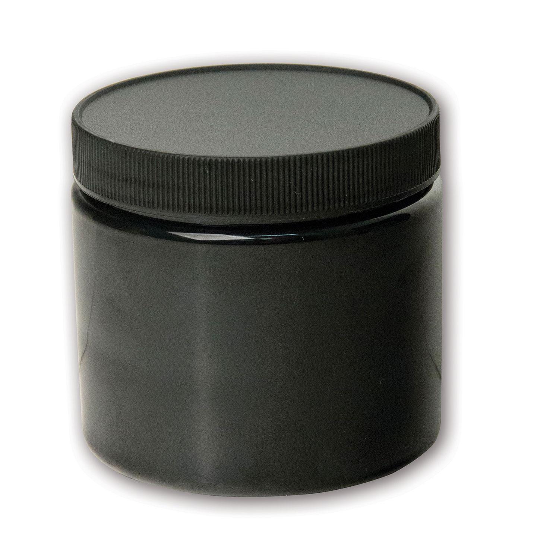 16 oz Opaque Black Jar#(plastic wide-mouth w/lid)#Item ACC2112
