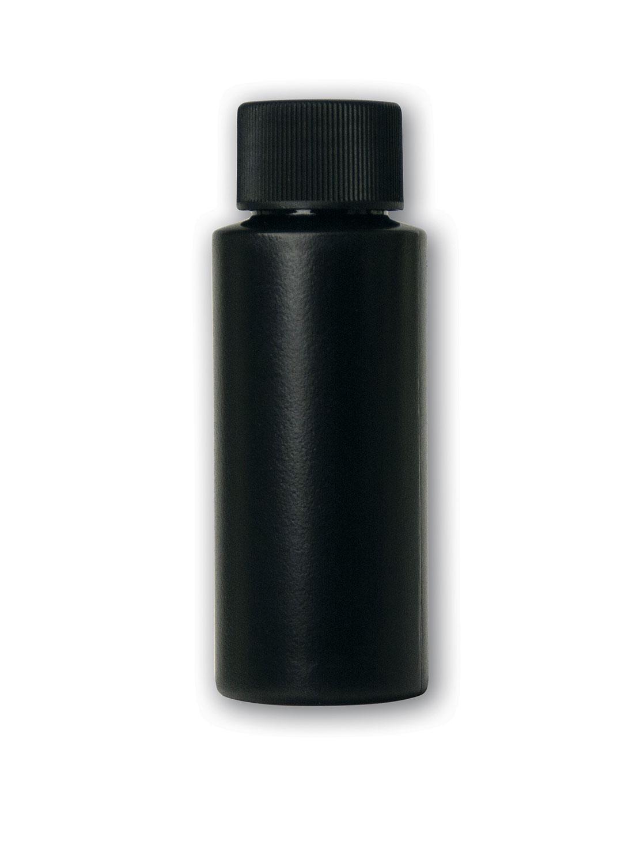 2 oz Opaque Black Bottle#(plastic w/cap)#Item ACC2120